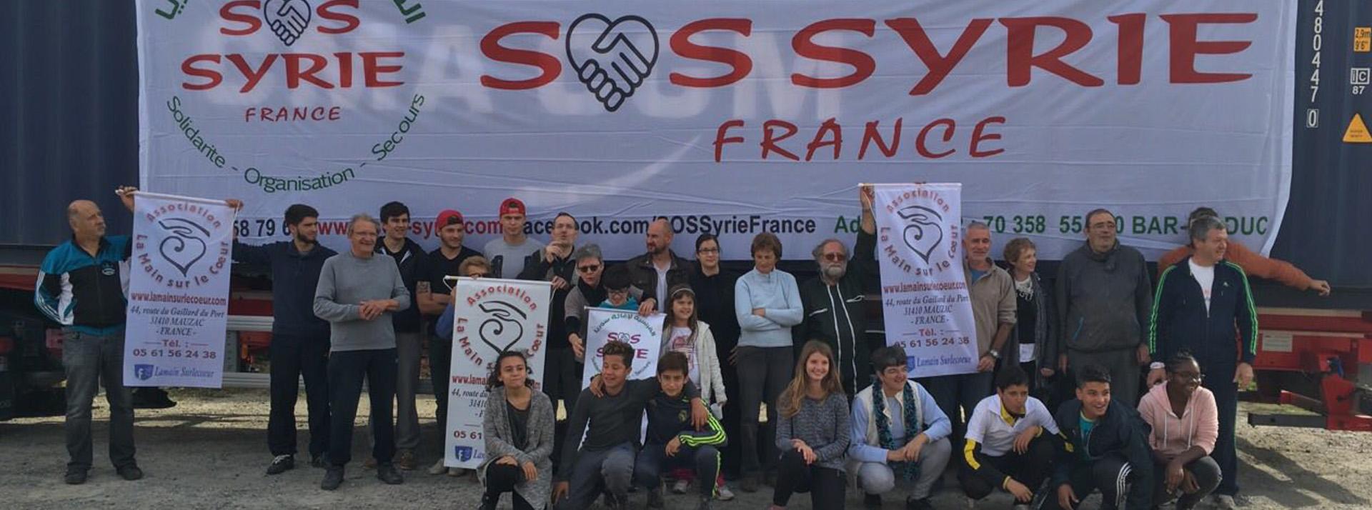 La main sur le cœur aide SOS Syrie