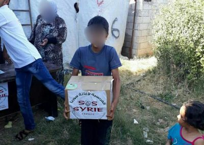 Distribution des colis alimentaires du Ramadan dans les camps de réfugiés