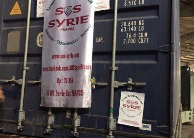 Arrivée d'un container a la frontière Jordano-Syrienne