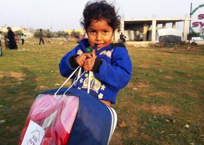 Distribution de couverture au sud de la Syrie