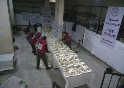 Distribution de repas Al Ghouta
