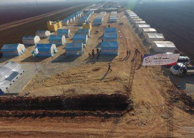 Nouveau camp de réfugiés construit par SOS Syrie