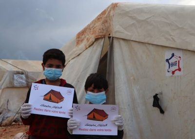 Campagne de prévention COVID19 dans les camps de réfugiés